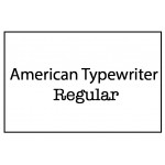 American Typewriter Regular